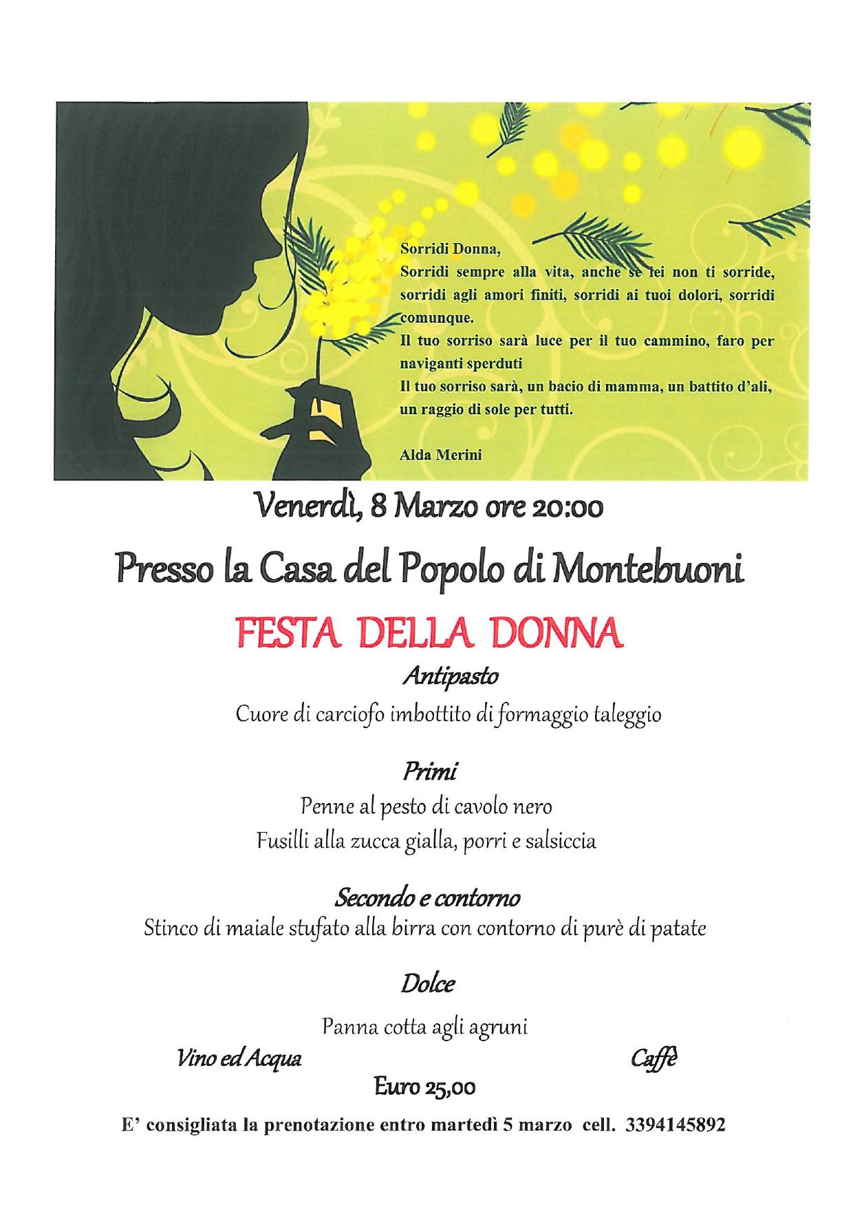 Festa Della Donnamontebuoni Arci Firenze
